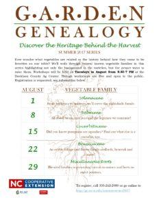 Cover photo for Summer Hort Series - Garden Genealogy
