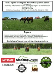 Cover photo for NCSU Equine Grazing & Pasture Management School