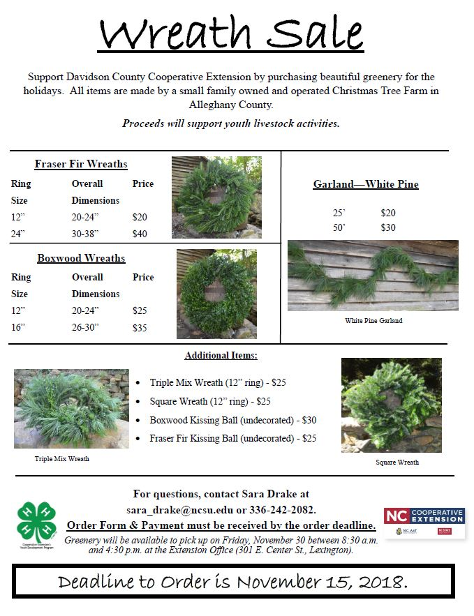 Wreath Sale flyer