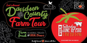Cover photo for Davidson County Farm Tour: June 15, 2019 – 1 to 5 P.M.