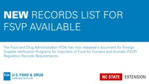 blue and white announcement of a new FDA checklist