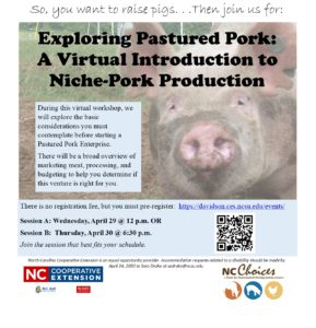 Cover photo for Exploring Pastured Pork:  a Virtual Intro to Niche Pork Production