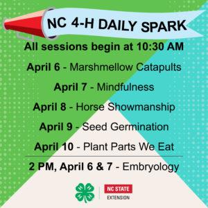NC 4-H Daily Spark - Week 3