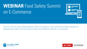 FDA Food Safety Summit on E-Commerce Banner